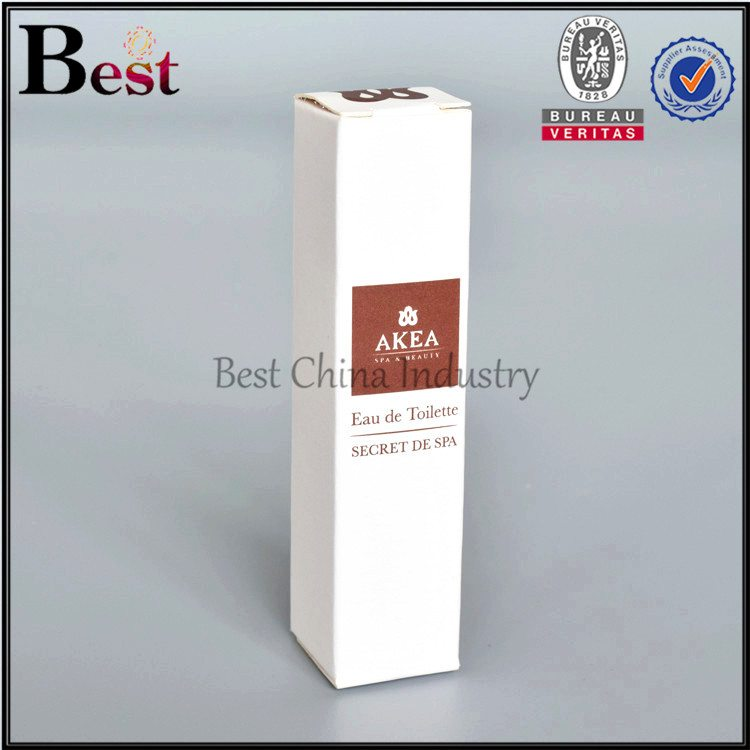 white paper box for cosmetic bottle
