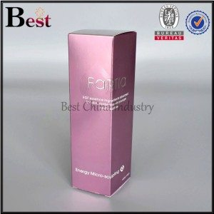 red paper box for cosmetic lotion bottle