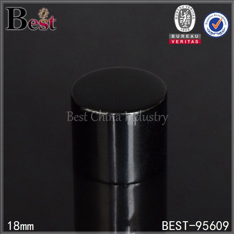 black aluminum essential oil bottle cap 18/410
