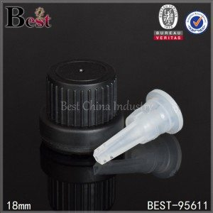 black plastic big head essential oil cap with orifice reducer