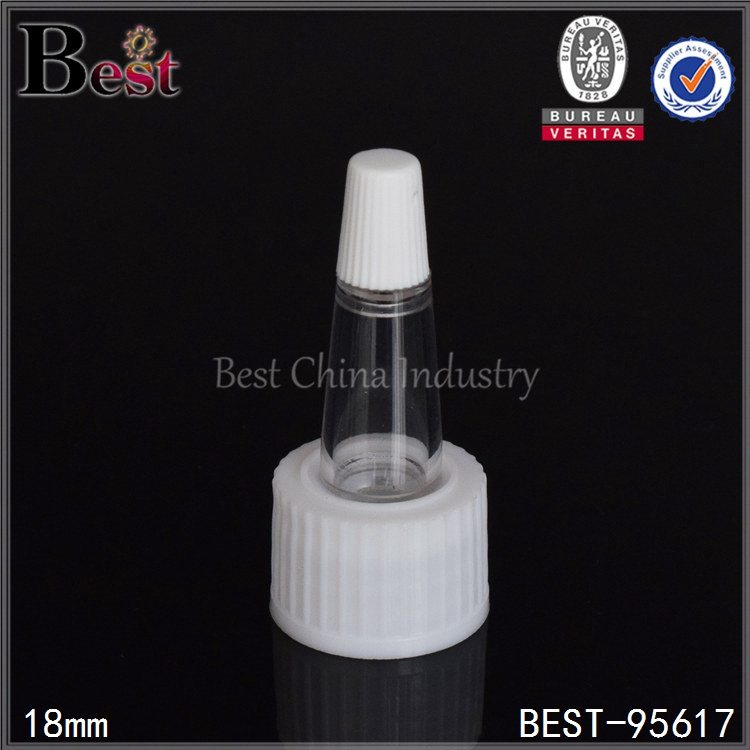 white plastic conic cap for serum 18mm