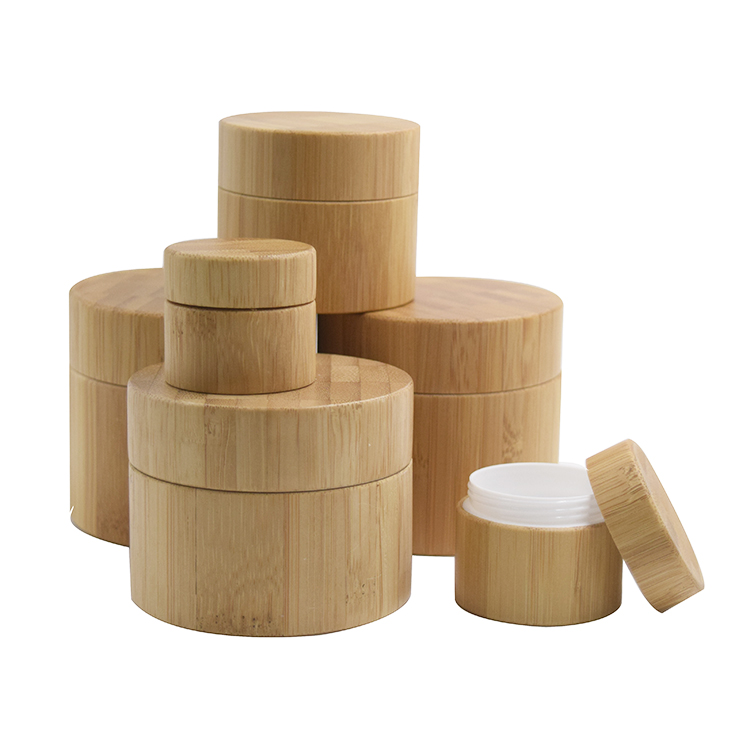 5g 10g 15g 20g 30g 50g 100g PP plastic jar with bamboo full cover