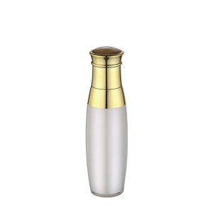gold pump acrylic cosmetic lotion bottle