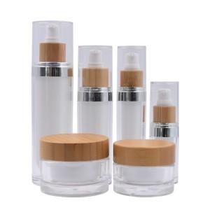 acrylic cosmetic bottle and jar