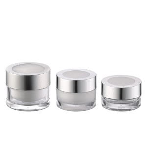 15g 30g 50g clear acrylic cosmetic container jar