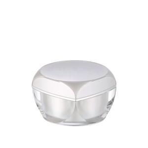 pearl white acrylic cosmetic cream jar