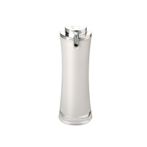 luxury white color cosmetic pump lotion bottle