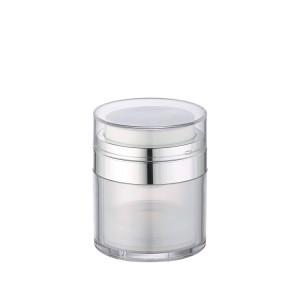 colored airless cosmetic pump jar
