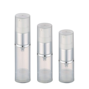 Clear PP airless pump cosmetic bottle