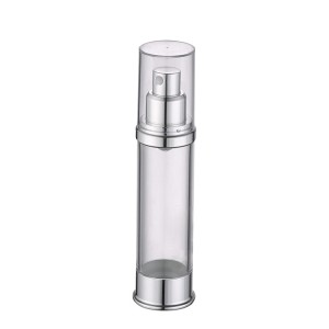 clear airless lotion pump bottle