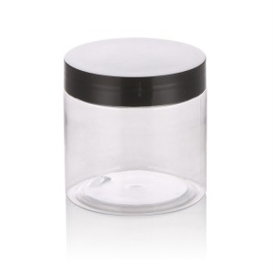 50ml clear round plastic jars with screw lid