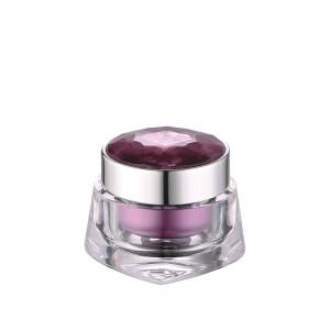 30g crystal lid acrylic cosmetic cream jar