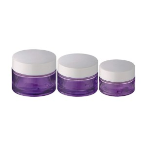 20g 30g 50g purple colored custom glass jars for cosmetic usage