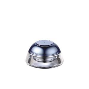 blue UFO shape cute acrylic cosmetic cream jar