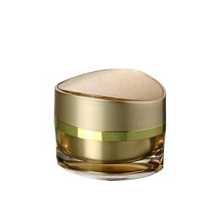 double wall gold acrylic cosmetic cream jar