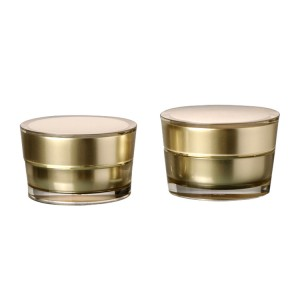 Wholesale round luxury acrylic cosmetic cream jar