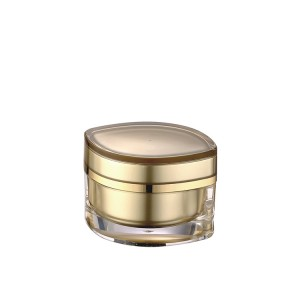 gold luxury acrylic cosmetic cream container jar