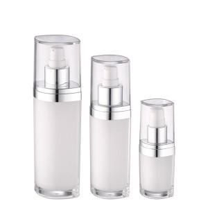 white color luxury lotion pump acrylic bottle