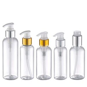 30ml 50ml 100ml clear plastic bottle with aluminum pump