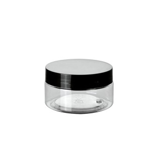 plastic jars 50g clear round shape with screw lid
