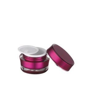 screw lid acrylic cosmetic cream jar wholesale
