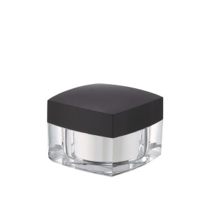 hot sale square acrylic cosmetic cream jar
