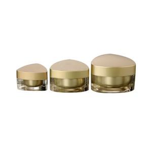 Triangle shape 5g 10g 15g acrylic cosmetic cream empty jar