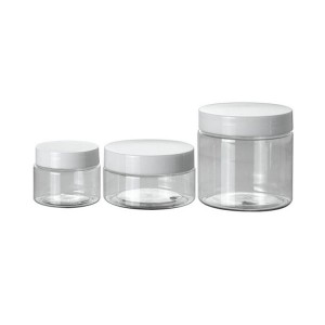 50g 100g clear plastic jars with screw lid