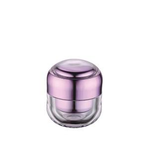15g 30g purple acrylic cosmetic cream jar